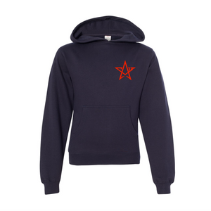 Open image in slideshow, CA13 Navy Youth Hoodie