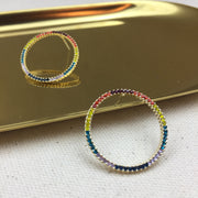Rainbow Hoop Earrings - Twist Earring