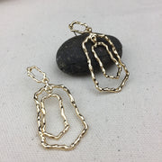 Golden String Earrings - Twist Earring
