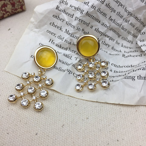 Yellow Matrice Earrings - Twist Earring