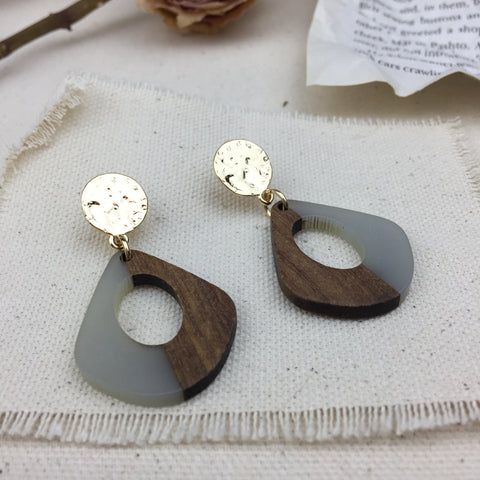 Half Crescent Earrings - Twist Earring