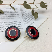 Red Ring Earrings - Twist Earring