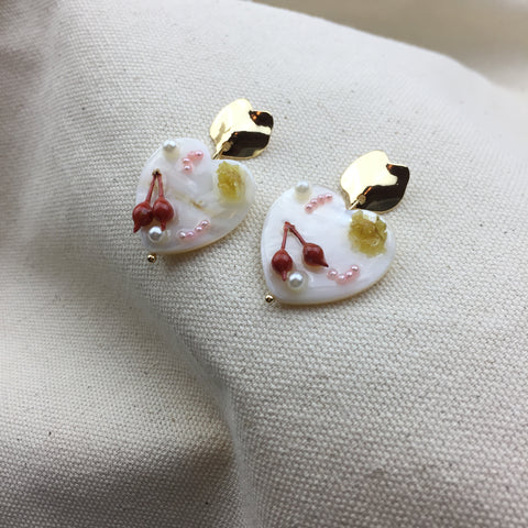 Dessert Heart Earrings - Twist Earring