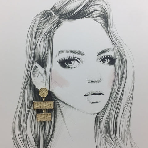 Golden Weave Earrings - Twist Earring