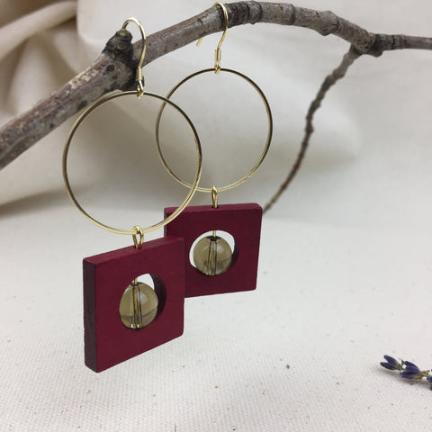 Squaring Off Earrings - Twist Earring