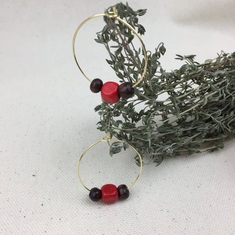 Red Nose Earrings - Twist Earring