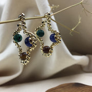Tri-Moon Earrings - Twist Earring