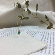 Green Seed Necklace - Twist Earring