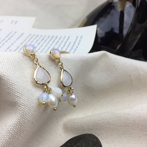 Rain Charm Earrings - Twist Earring