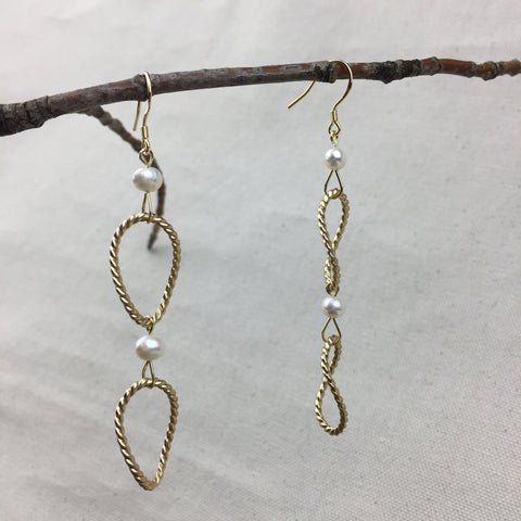 Golden Lasso Earrings - Twist Earring