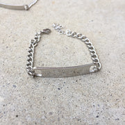 Mens Chain Badge Bracelet - Twist Earring