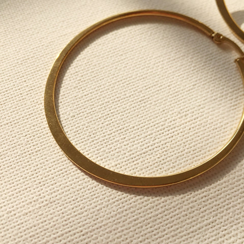 Flat Hoop Earrings - 2.2""