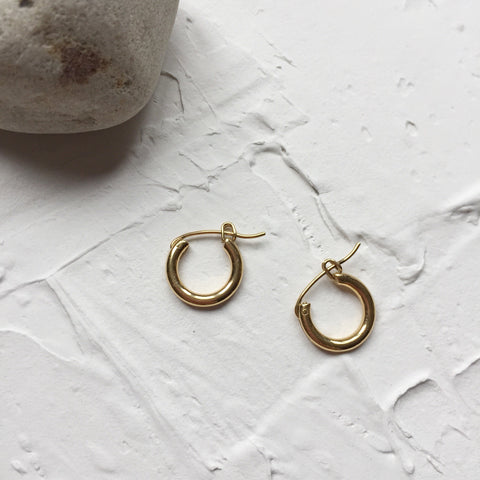 Classic Hoops Earrings-0.55""
