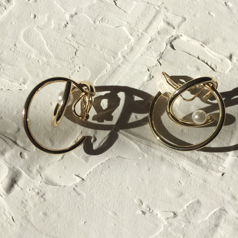 Golden Universe Ear Clips