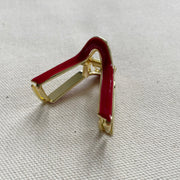 V Mini Claw Clips-Red