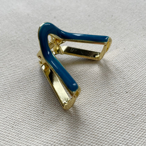V Mini Claw Clips-Blue