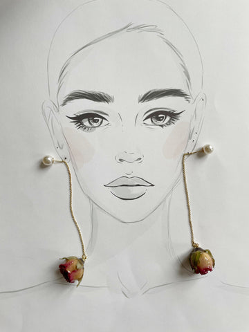Forever Rose Earrings