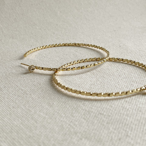 Skinny Hoop Earrings