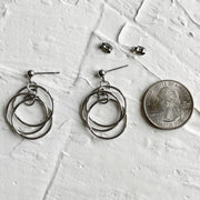 Unisex Swinging Ring Earrings