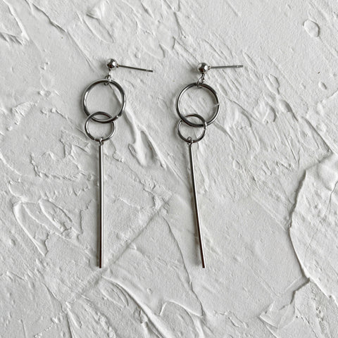 Dangle Round Bar Earrings