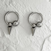 Spike Tip Hoop Earrings