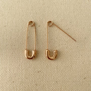 Rose Gold Safety Pin Earrings