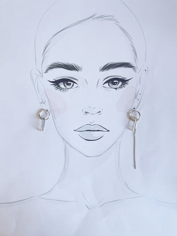 Dainty Bar Hoop Earrings