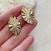 Origami Folding Fan Earrings