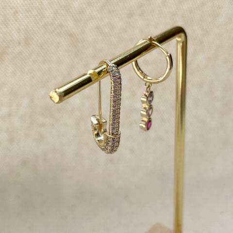 Bold Safety Pin Earring Set
