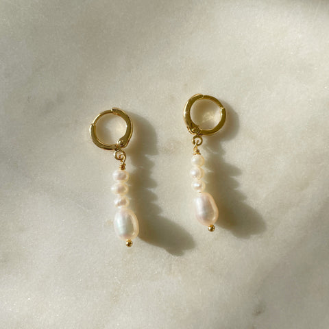 Multi Pearl Drop Earrings