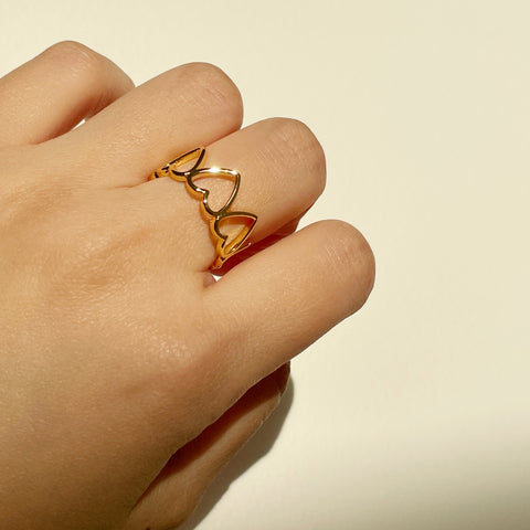 Hollow Loving Heart Ring