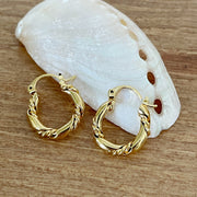 Twist Rope Hoop Earrings