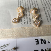 Spotted Hearts Ear Clips