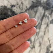 Diamond Heart Earrings-Medium