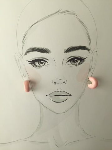 Pink Doughnut Earrings