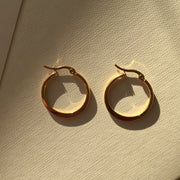 Flat Hoop Earrings-1""