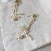 Pearl Puzzle Earrings