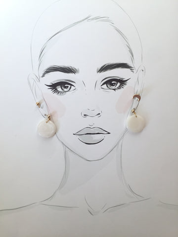Full Moon Earring Set