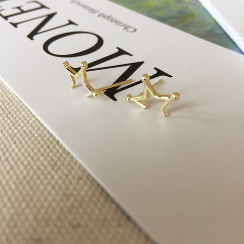 Split Star Earrings