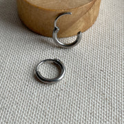Hinged Huggie Hoop Earrings or Nose Ring-12g