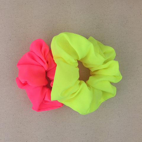 Neon Party Scrunchie Set - Twist Earring