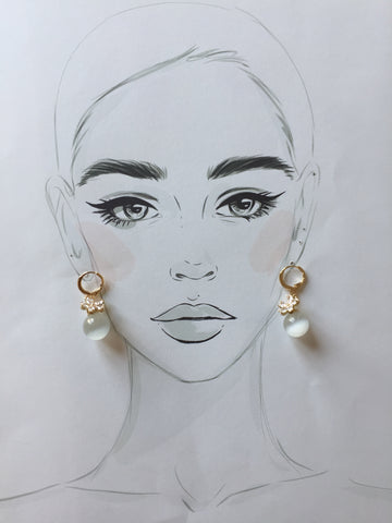 Moon Eye Earrings