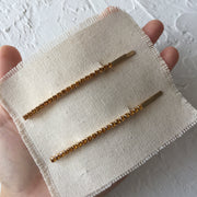 Crystal Liner Hair Clip Set-Gold