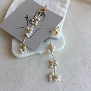 Pearl Drops Ear Clips - Twist Earring