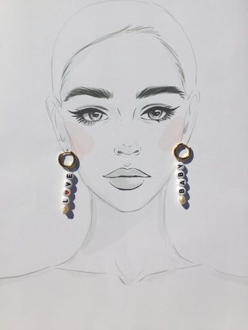 Love Beaded Earrings - Twist Earring