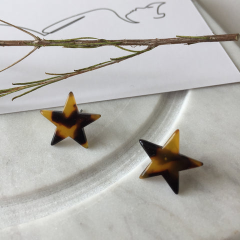 Amber Star Earrings - Twist Earring