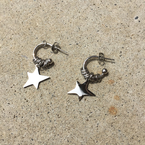 Star Hoops Earrings - Twist Earring