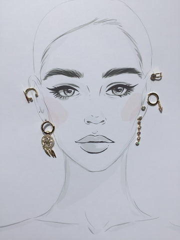 Dream Catcher Earring Set - Twist Earring