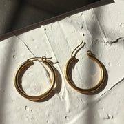 "Classic Hoops Earrings-1.1"" - Twist Earring"