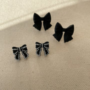 Black Ribbon Earrings